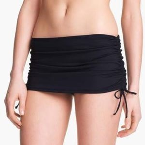 La Blanca Skirted Hipster Bikini Bottoms Black